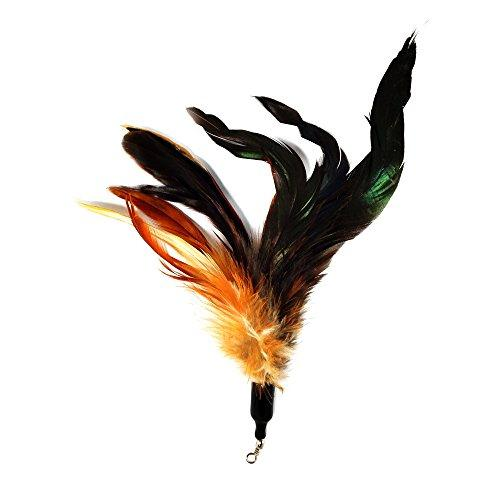 22-Pack Multi Piece Replacement Colorful Feathers Pack Plus Bonus Soft Furry Tail for Interactive Cat and Kitten Toy Wands